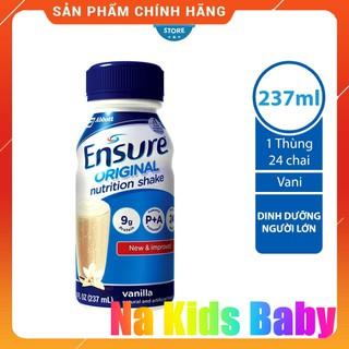 Thùng 24 chai Sữa Ensure nước Original Vani 237ml chính hãng
