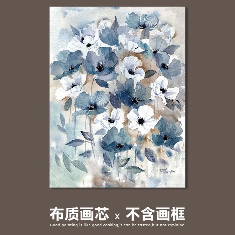 Giấy Dán Tường Hình Hoa Màu Nước Trang Trí Phòng Khách / Phòng Ngủ