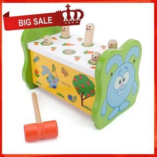 [CỰC ĐẸP] Đồ chơi gỗ – Bộ đồ chơi đập chuột 1 búa cho bé [SỈ – LẺ]