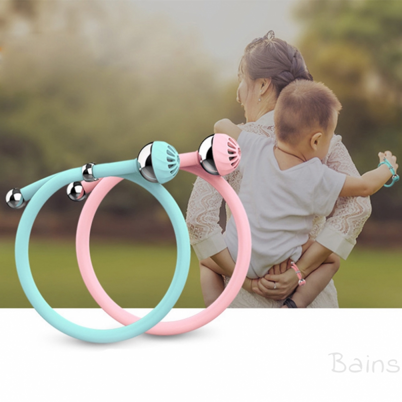Bains Environmentally silicone friendly summer children's anti-mosquito bracelet
