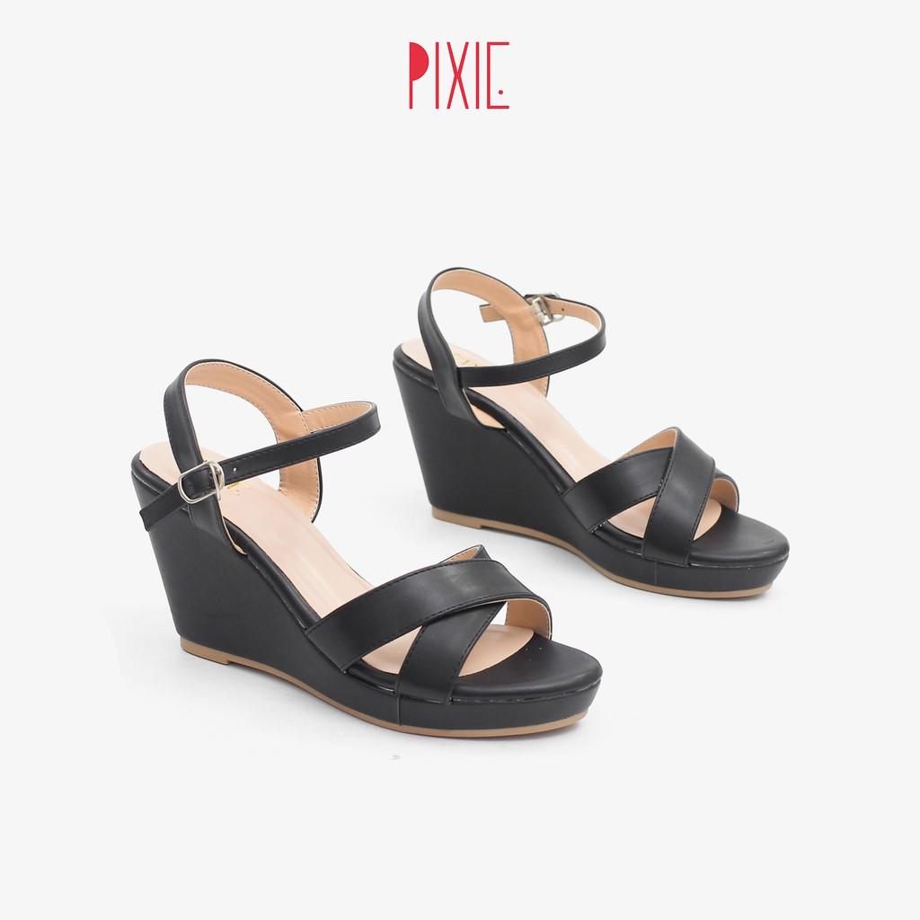 [Mã WABR151 giảm 10% đơn 99000] [Form Nhỏ] Giày Sandal Đế Xuồng Quai Chéo 7cm Pixie P207