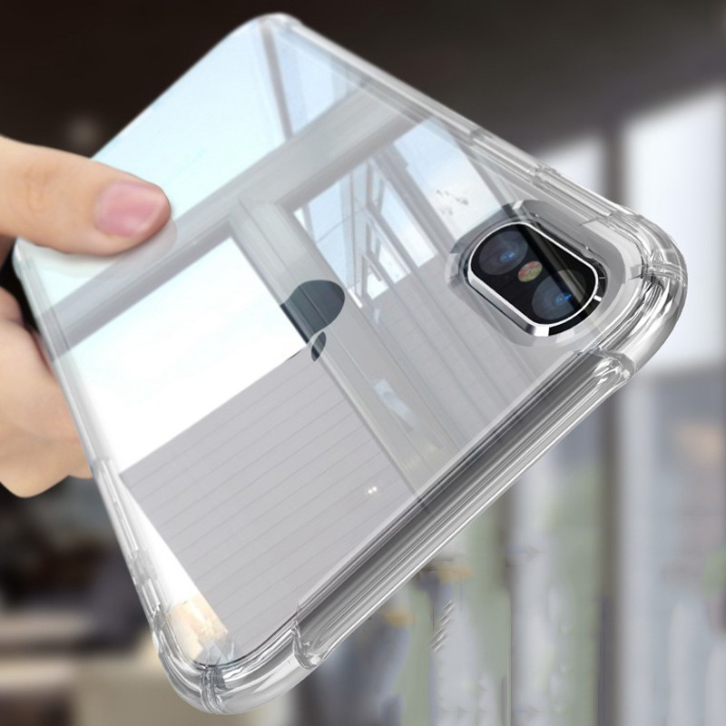 Ốp lưng trong suốt ôm sát dành cho iPhone X IPhone 8 7 6 6S Plus