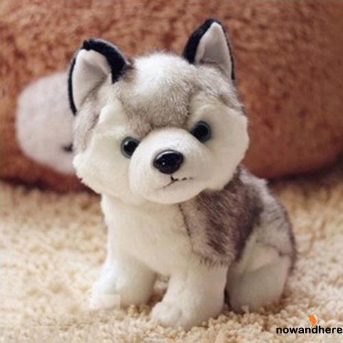 HNW-Keel Toys Soft Toy Cuddly Husky Puppy Dog 18cm Stuffed Animal Teddy 18cm 7″
