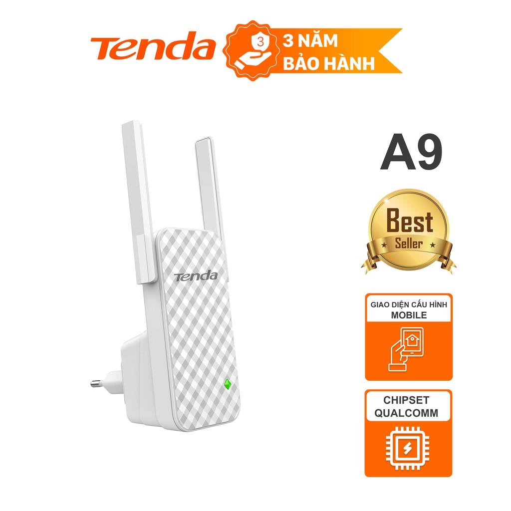 Tenda Bộ kích sóng Wifi A9 Chuẩn N 300Mbps - Hãng phân phối chính thức