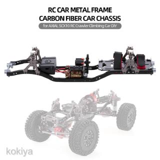 Metal Frame Carbon Fiber Chassis for Axial SCX10 RC Crawler Replacment Parts
