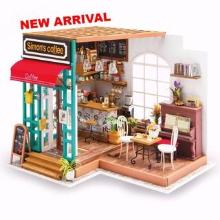 Nhà búp bê có đèn Tiệm cafe Robotime