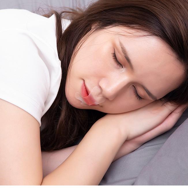 Miếng dán miệng khi ngủ, chống ngáy, tật thở bằng miệng