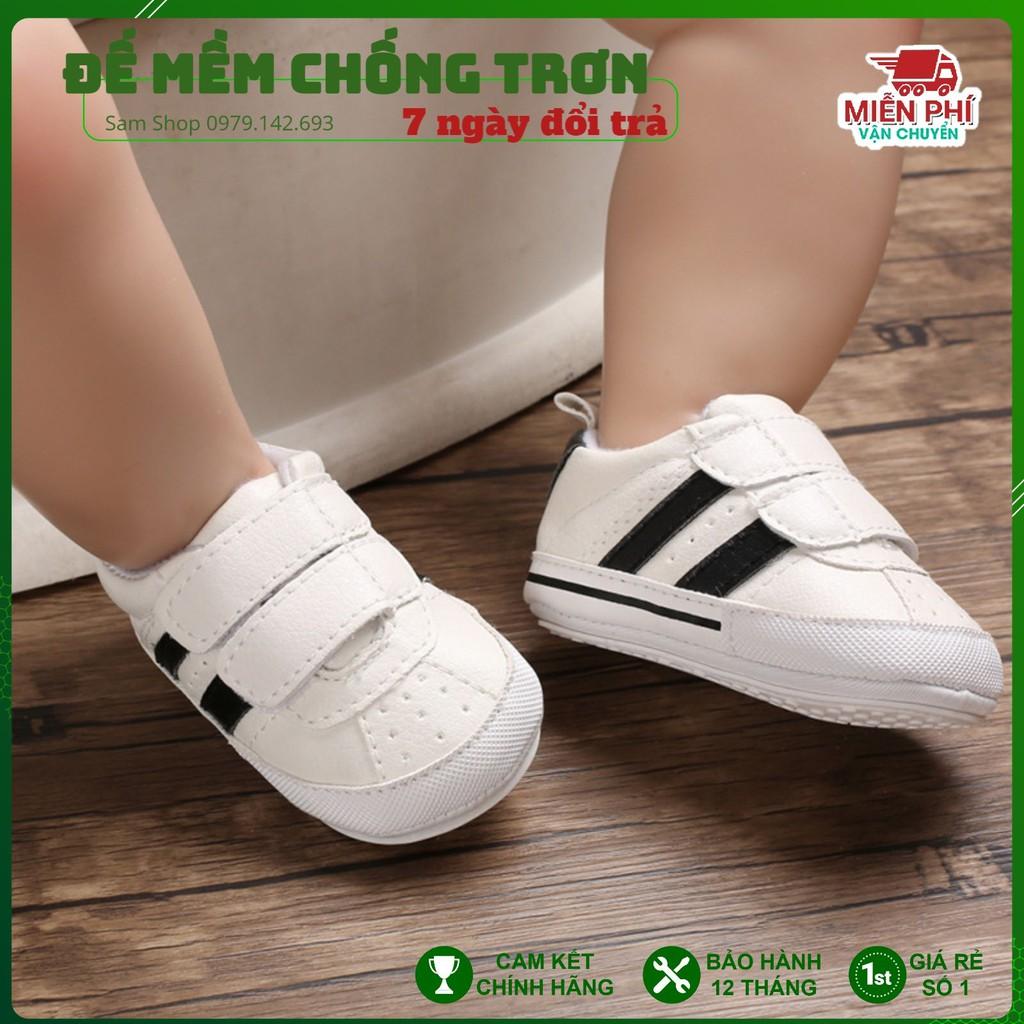 [Hàng Cao Cấp] Giày tập đi chống trơn trượt cho bé, giày tập đi đế mềm dễ thương từ 0-24 tháng tuổi