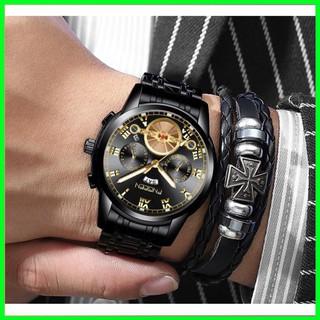 Đồng hồ fngeen chính hãng nam chạy 2 lịch dây thép (tặng kèm hộp , pin , phụ kiện thâu dây)