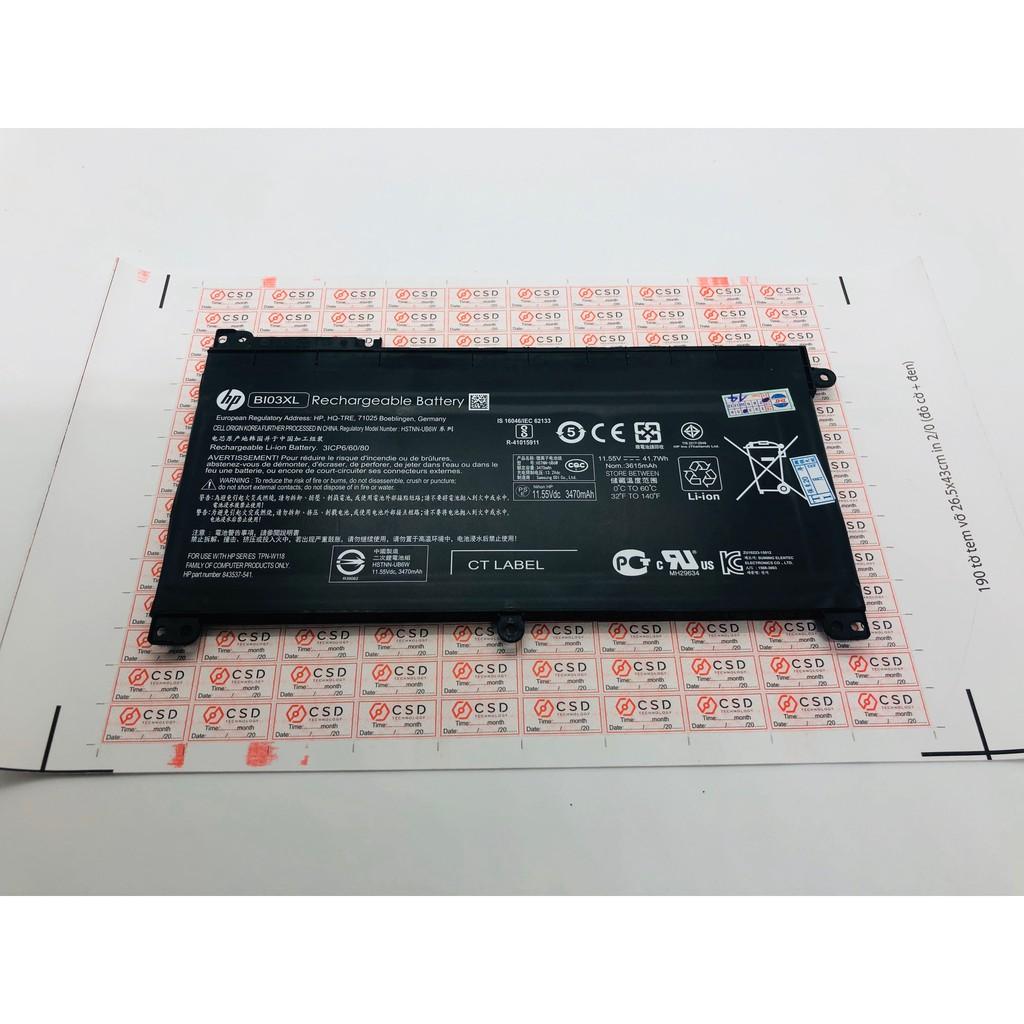 Pin Laptop  HP Pavilion X360 13-U Series  HP Stream 14-ax Series. Mã pin BI03XL Hàng Zin - Có Video Thực tế