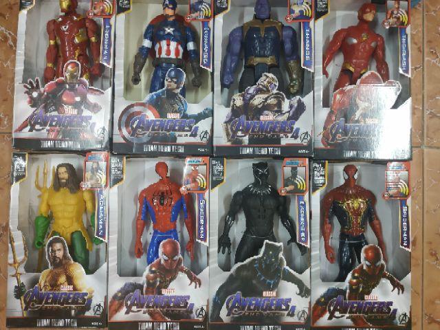 Mô hình siêu anh hùng Avengers Endgame 4 - Spider Man 30cm nhạc đèn