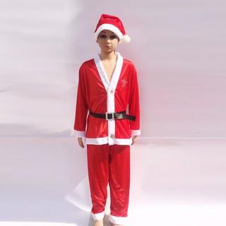 ComBo Bộ Noel Kèm Mũ Cho Bé Trai từ 1 Đến 10 Tuổi
