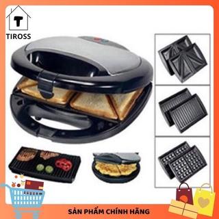 [MÃ BMART5K GIẢM 10%] [7 ngày Lỗi 1 đổi 1] Máy nướng bánh mỳ sandwich Tiross 3 trong 1 TS513 | TS514 (Chính hãng)