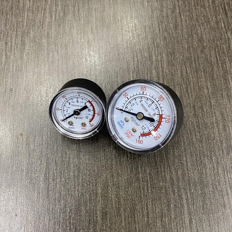 """Đồng hồ đo áp suất khí nén 0-180psi 0-12bar 1 / 8 """" chân ren 9mm"""