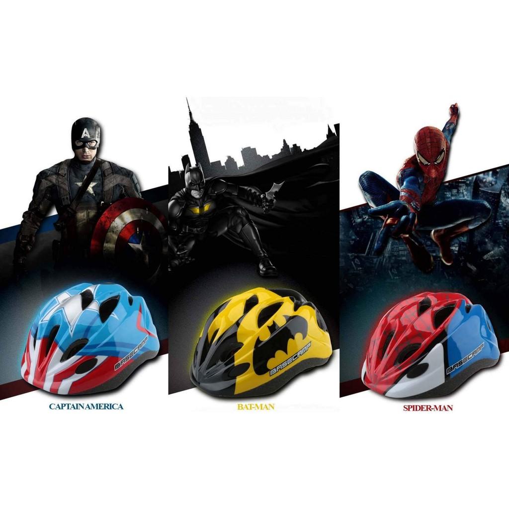 Mũ bảo hiểm Basecamp, batman, người nhện, đội trưởng Mỹ