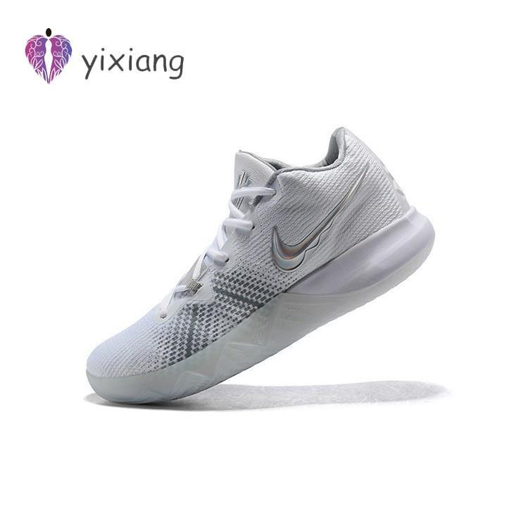 KSK@ Nike Kyrie รองเท้าบาสเก็ตบอลสีเงินขนาด 40-46