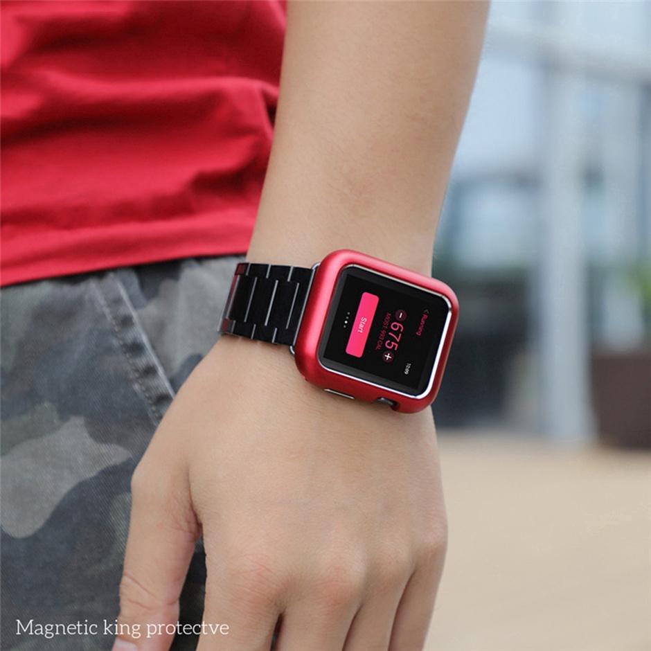 Khung Bảo Vệ Bằng Nhôm Có Nam Châm Cho Đồng Hồ Thông Minh Apple Watch Series 4 5 Se 6 40mm 44mm 360