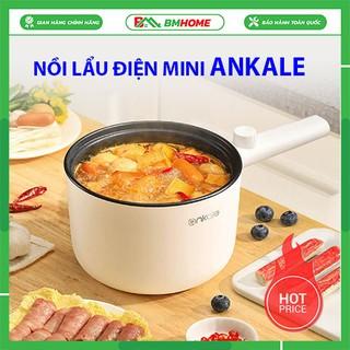 Nồi lẩu điện mini đa năng Ankale, nồi điện chống dính, nấu mì chiên trứng, xào rau, dung tích 1,5l- bảo hành lỗi 1 đổi 1