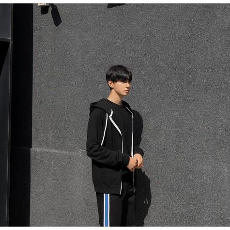 Áo khoác nỉ nam đẹp, Aó khoác nỉ nam Hàn Quốc có mũ