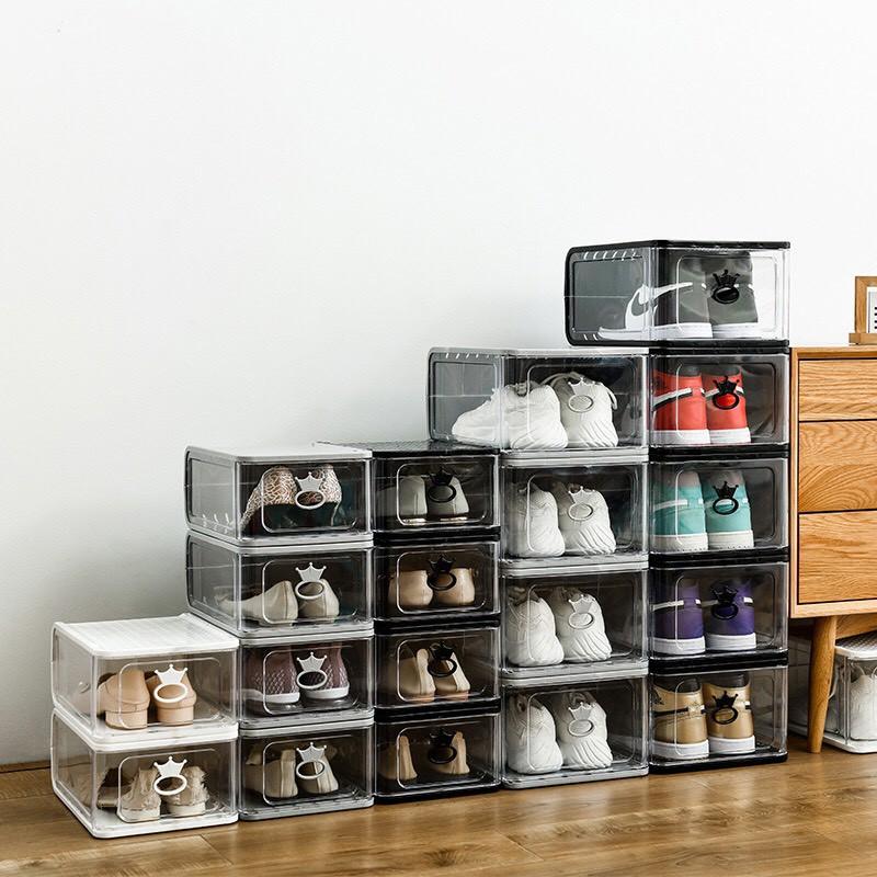 Hộp Đựng Giày Nhựa Cứng 100% - Size Nam và Nữ - Loại Xịn
