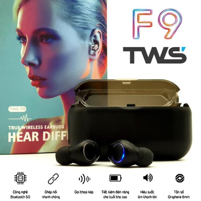 Tai Nghe Bluetooth F9 Pro TWS Kết Nối Không Dây Cho Iphone Và Android Love.Case