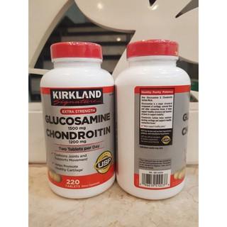 Viên uống Glucosamine 1500mg & chondroitin 1200mg 220 viên – Glucosamin Kirkland 220 [HOÀN TIỀN 200% PHÁT HIỆN HÀNG FAKE