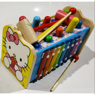 Đập chuột vui nhộn gỗ hình Kitty kết hợp gõ đàn hấp dẫn cho bé yêu