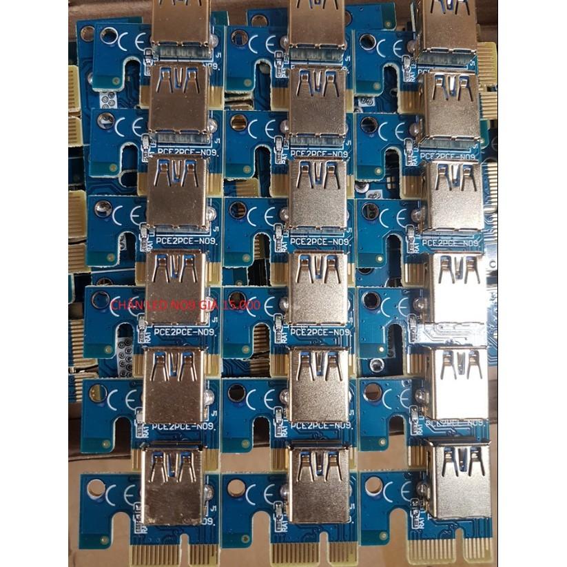 Combo 10 Chân Riser VGA PCI -e 1X LED Giá chỉ 120.000₫