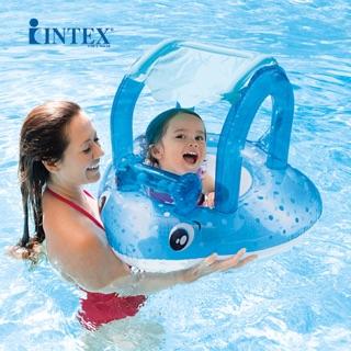 Phao bơi hình cá đuối Intex có mái che