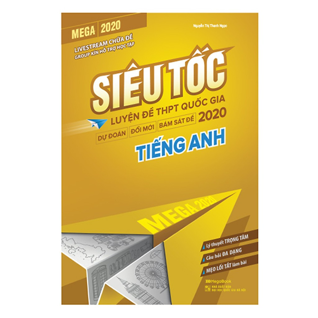 Sách - Mega 2020 siêu tốc luyện đề THPT Quốc gia 2020 Tiếng Anh