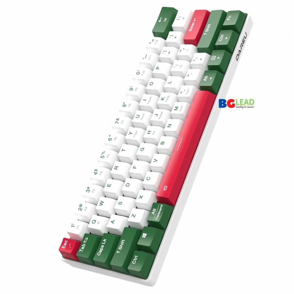 Bàn phím cơ không dây |Bàn phím bluetooth DAREU EK861 61KEY (PBT, Blue/ Brown/ Red D-KAILH switch) - Mai Hoàng bảo hành