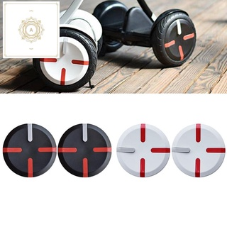 2Pcs Electric Balance Scooter Wheel Hub Cover Cap Practical Wear Resistant Side Cap for Xiaomi Ninebot/Mini Pro-Black