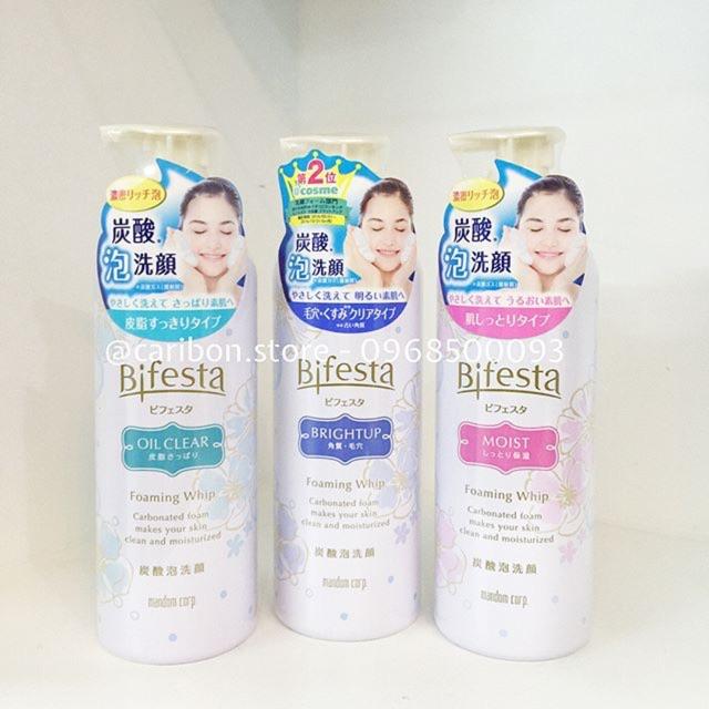 Sữa rửa mặt tạo bọt Bifesta Foaming Whip 180g