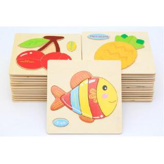 Kagonk Đồ chơi tranh ghép gỗ nổi 3D đáng yêu cho bé - Kích thích thị giác và khả năng quan sát cho trẻ thumbnail