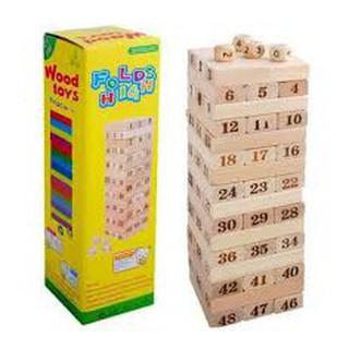GIẢM 50% – Bộ đồ chơi rút gỗ 54 thanh mini g CHẤT ĐẸP.