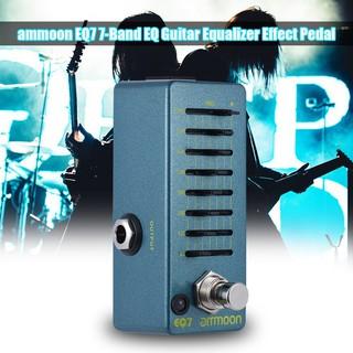 yohi2018 ammoon EQ7 Mini Guitar Equalizer Effect Pedal 7-Band EQ Aluminum Alloy