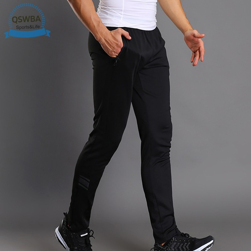 Qswba Men Sport Pants Trousers Breathable Casual for Running Training Fitness Summer
