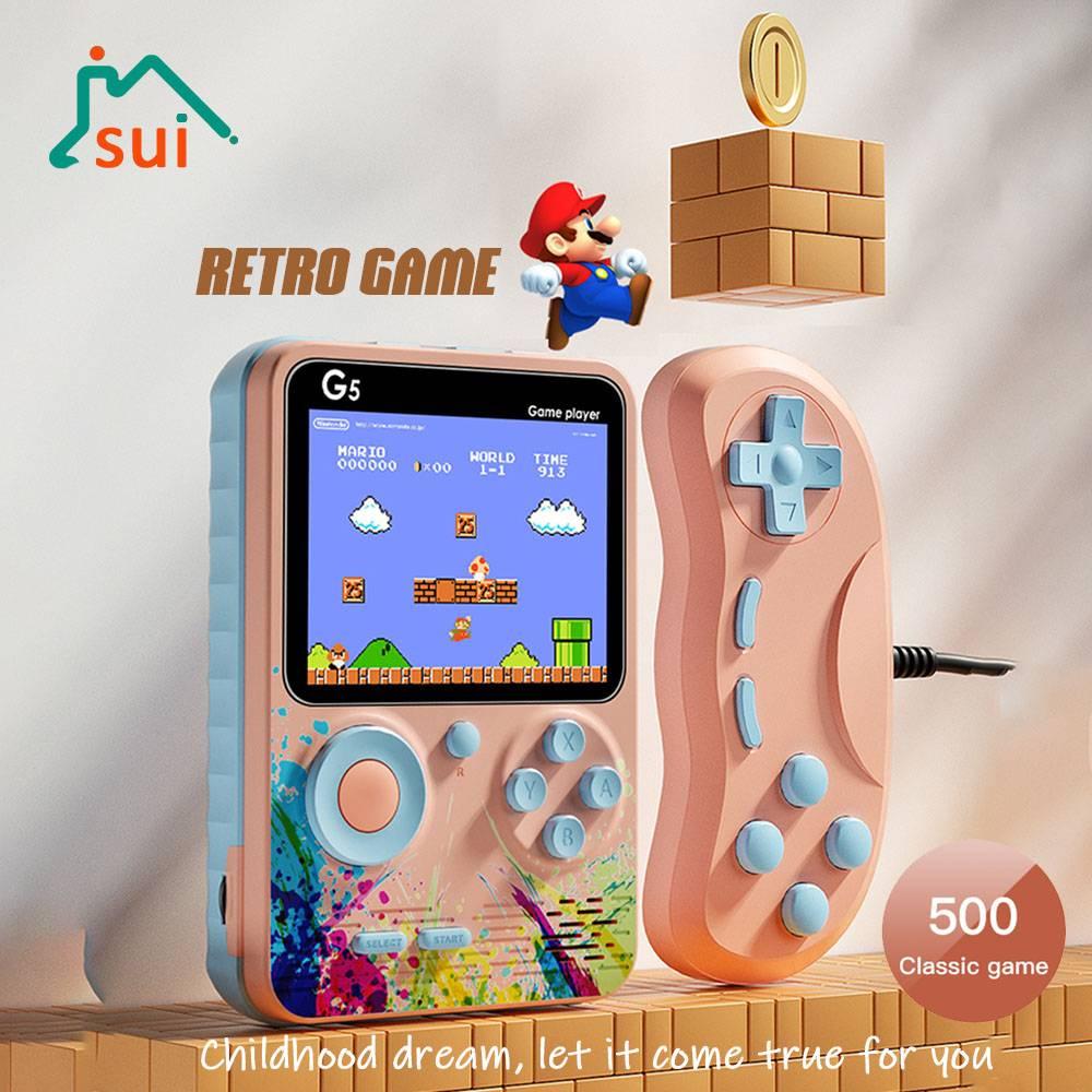 Máy Chơi Game Cầm Tay Super Mario 500 Game G5 Màn Hình Lcd Cổ Điển 2021