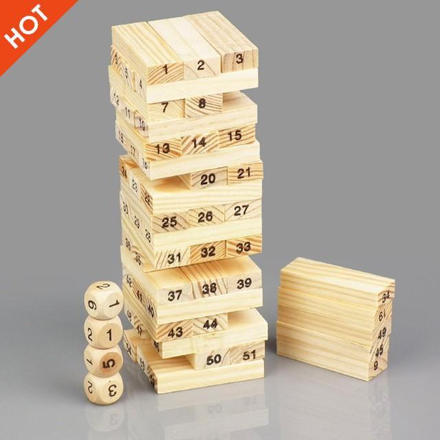 [Nhập TOYAPR10K giảm ngay 10K]Đồ chơi rút gỗ 54 thanh cho bé   CHẤT LƯỢNG CAO