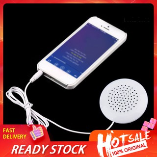 【Ready stock】 Mini Portable 3.5mm Pillow Speaker for MP3 MP4 Player High Quality Stereo Gift