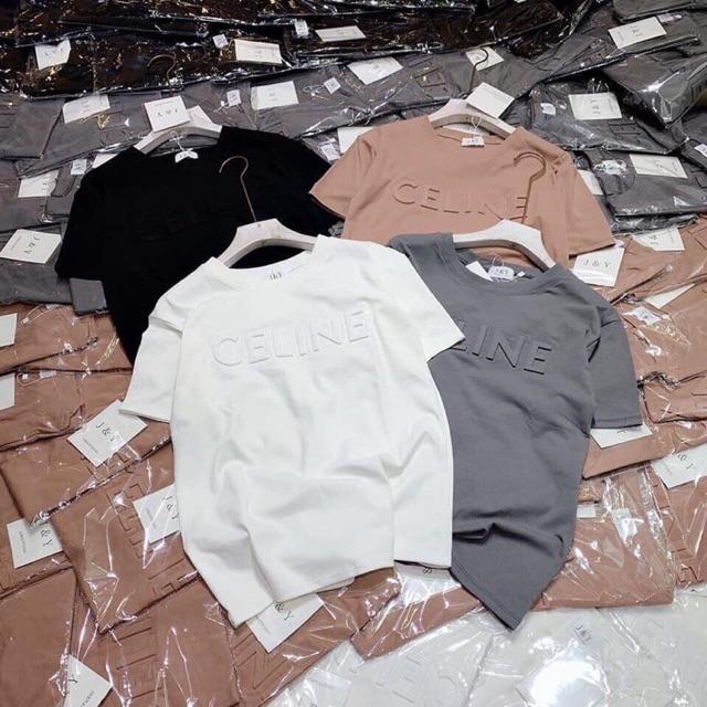 Áo phông chữ dập nổi 5 màu