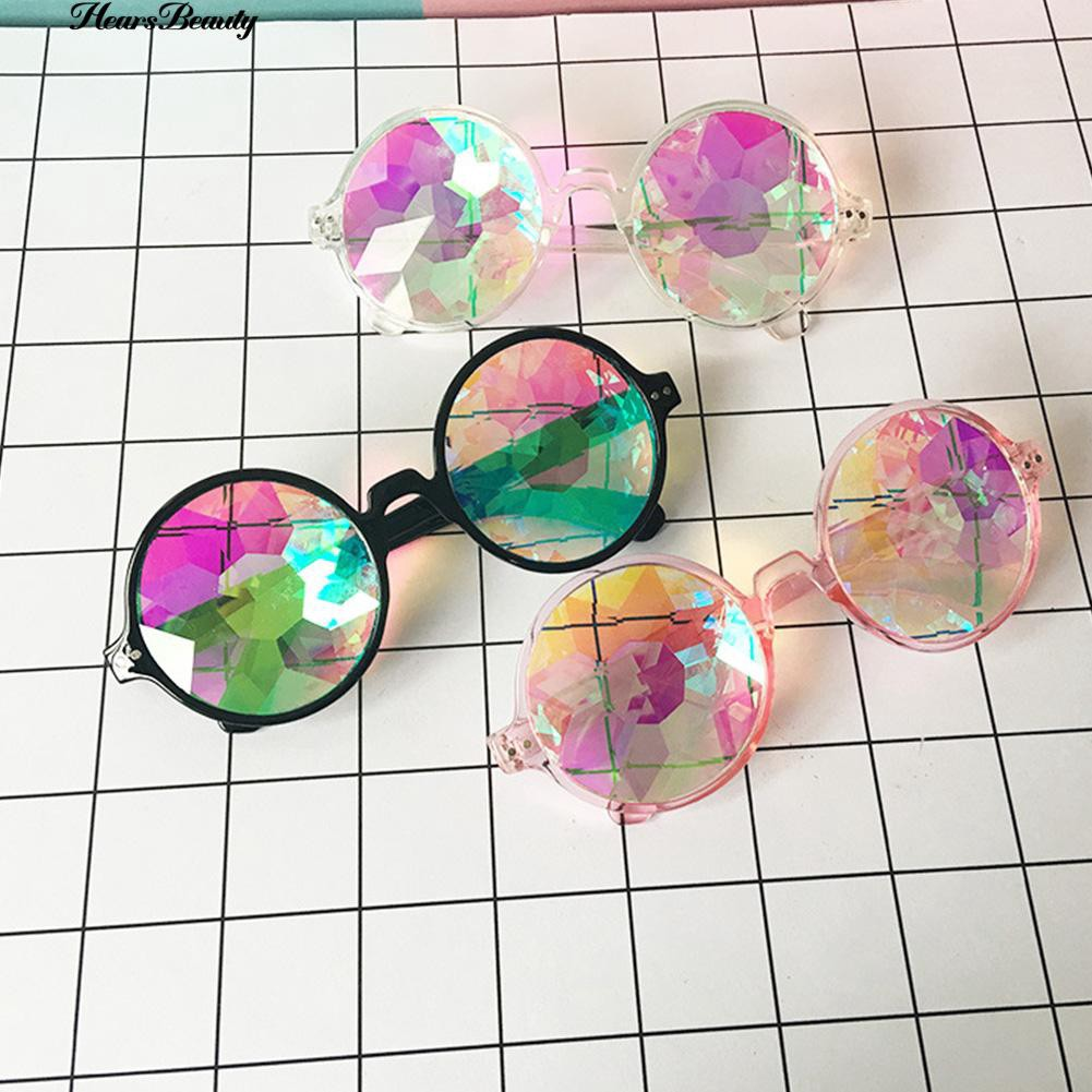 👗 & NEW  Round Kaleidoscope Men  Cosplay Goggles Eyewear