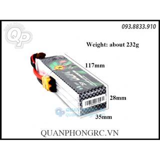 Pin ACE 1400mAh 6S 45C 22.2V LiPo Battery XT60 thumbnail