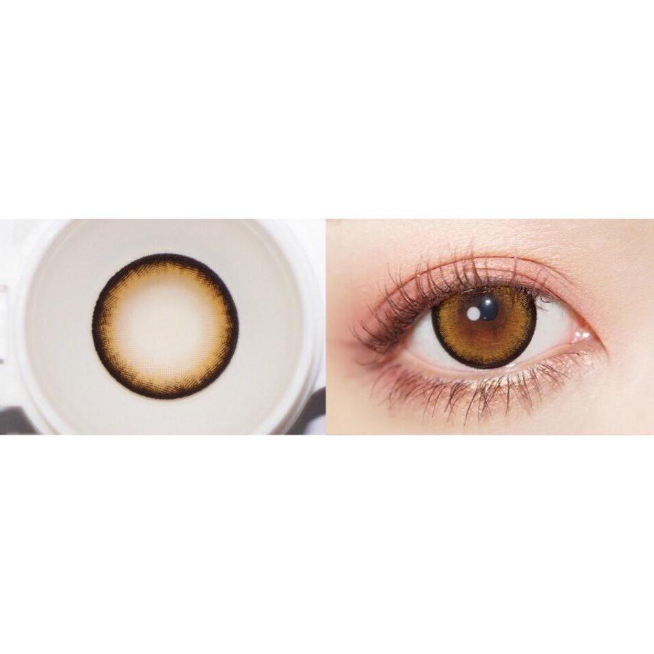 (1pair)(20.MAY.5)SLZ Series,BIG EYE,14.4mm,Xiyou Brand,,(grade0.0-8.0),Contact Lens yearly use(brown)