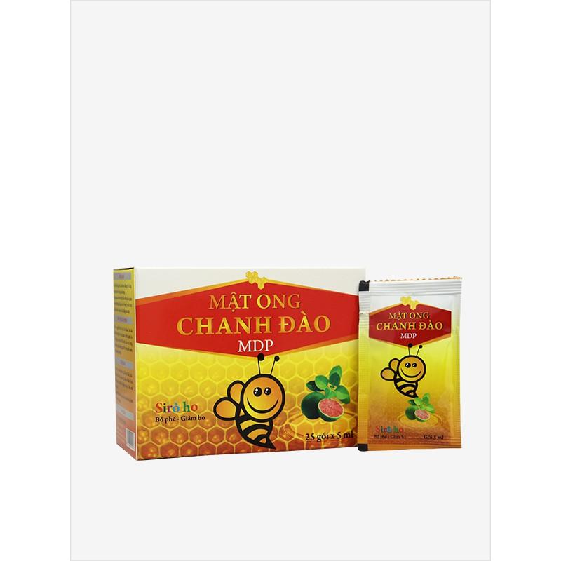 Sirô mật ong chanh đào Mediphar giảm ho bổ phế - hộp 25 gói, chai 120ml    Shopee Việt Nam