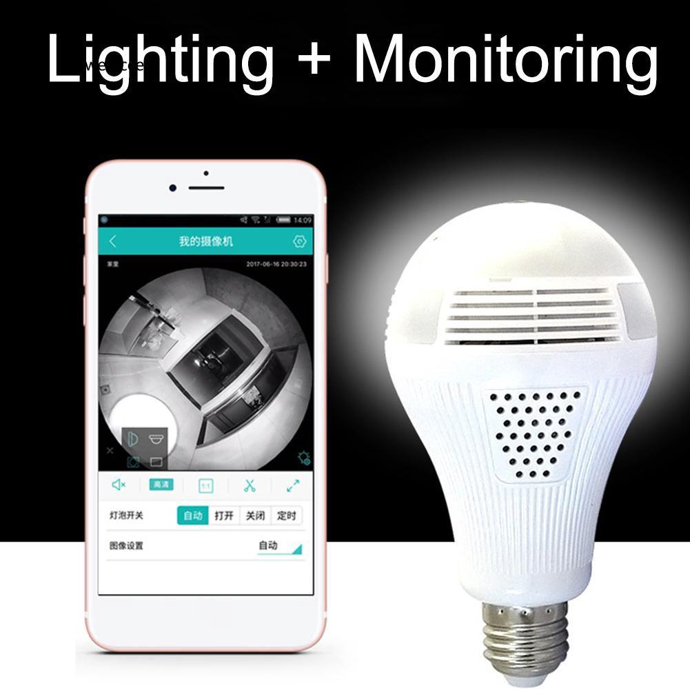 HUA♥E27 Full HD 360 Degree Panoramic Bulb IP Camera LED Light Home Security Lamp