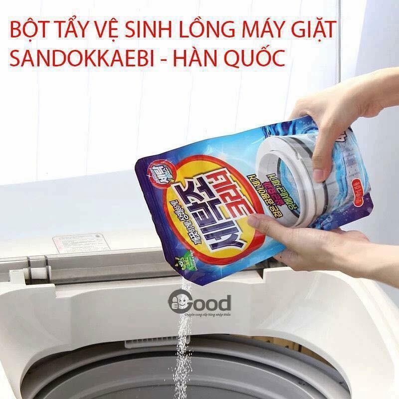 Bột tẩy vệ sinh lồng máy giặt Sandokkaebi Hàn Quốc - 2504439 , 70643805 , 322_70643805 , 60000 , Bot-tay-ve-sinh-long-may-giat-Sandokkaebi-Han-Quoc-322_70643805 , shopee.vn , Bột tẩy vệ sinh lồng máy giặt Sandokkaebi Hàn Quốc
