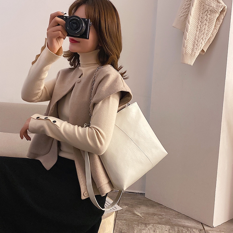 #H1124 Túi xách thời trang mùa đông sức chứa lớn phong cách Hàn Quốc cho nữ