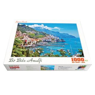 Bộ tranh xếp hình cao cấp 1000 mảnh ghép – Bờ Biển Amalfi, Ý