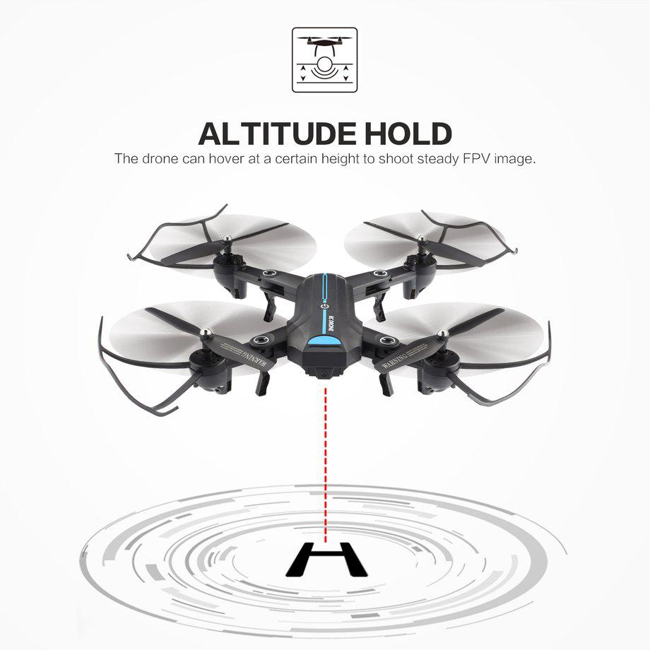 A6W WiFi FPV Camera Altitude Hold Headless Mode Foldable RC Drone Quadcopter